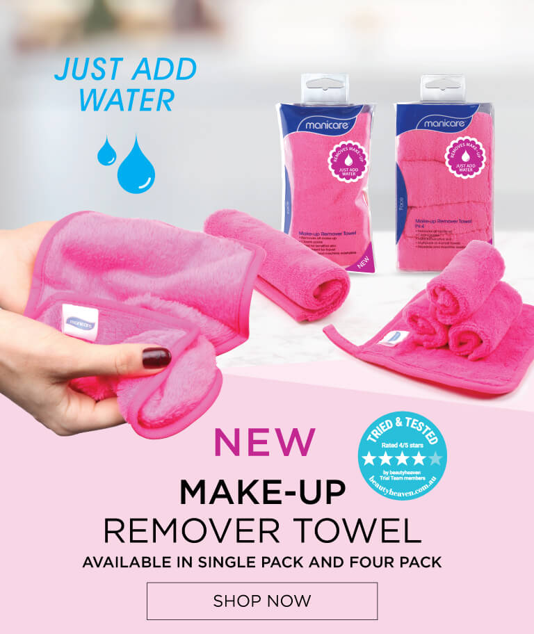New Make-Up Remover Towel available in single and four pack