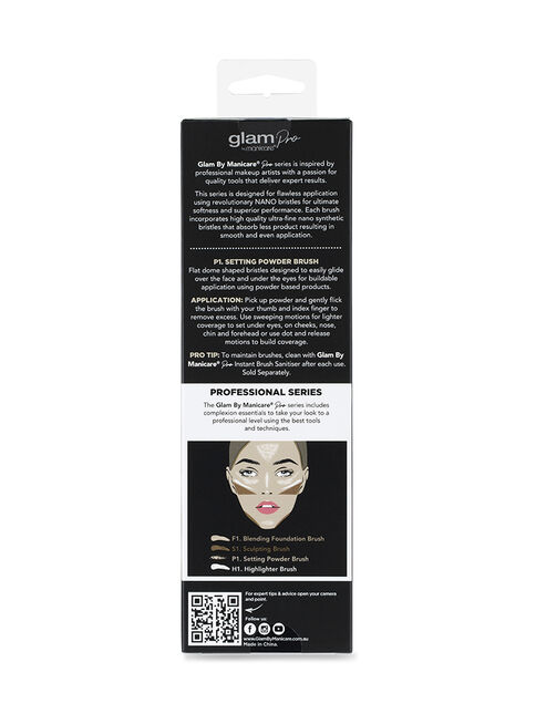 Glam by Manicare® Pro P1. Setting Powder Brush