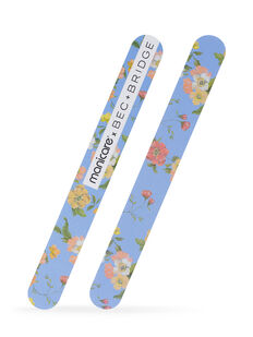 Limited Edition Fashion Nail Shapers 2pk - Blue Floral