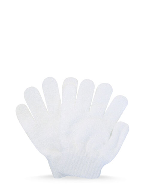 White Exfoliating Gloves