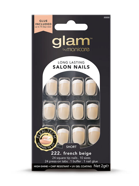 222. French Beige Short Square 2g