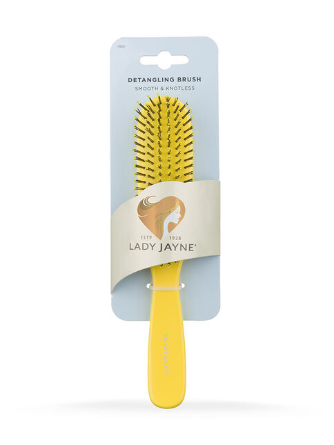 Yellow Smooth & Knotless Detangling Brush - Large