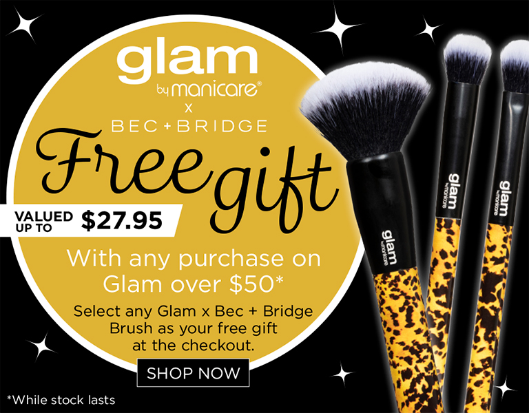 Spend $50 on Glam and receive FREE B+B Brush*